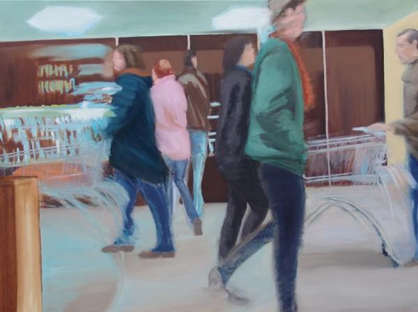 "Künstler Sven Blatt - ""Hunting For Survival"" | 120 x 160 | 2010 | Öl auf Leinwand"