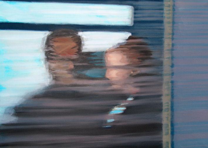 "Künstler: Sven Blatt - ""Moments (passing by)"" | 80 x 110 | 2007 | Öl auf Leinwand"