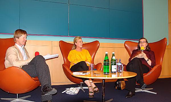 Robert Fleck, Rita McBride und Katharina Fritsch (v. l. n. r.) Foto © Sven Blatt