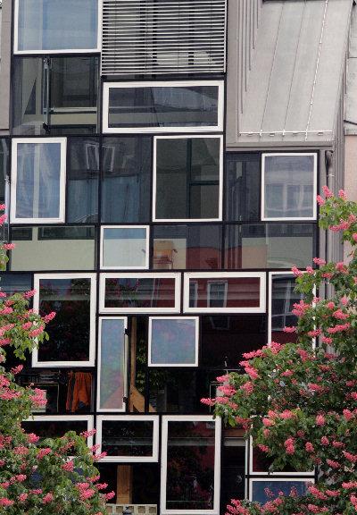 Die Fassade des Jenaer Stadtspeichers - ab 3. Oktober wird  sie zur Projektionsfläche für eine einzigartige Lichtinstallation (Foto: Anne Günther/FSU).