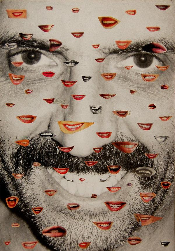 Beni Bischof Krasse Collage , 2013 Collage auf Papier 40,5 x 27,5 cm Courtesy Galerie Rupert Pfab, Düsseldorf