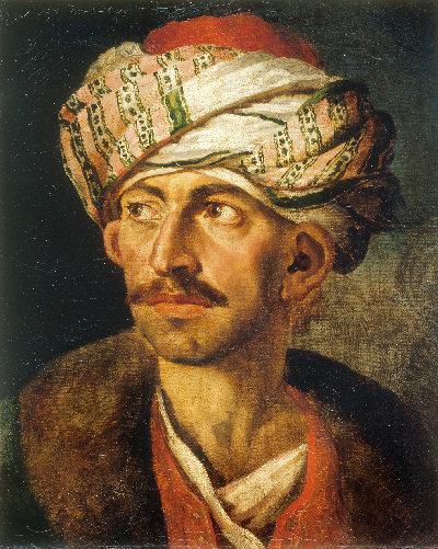 Théodore Géricault Männliches Porträt, vermutlich Mustafa