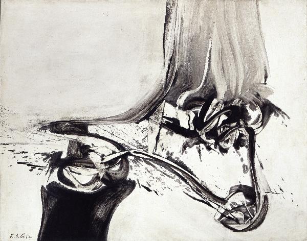 Title: Trefang, 1963 Mischtechnik auf Leinwand, 120 x 150 cm Kunsthalle Emden, Dauerleihgabe Sammlung Ströher, Darmstadt © VG Bild-Kunst, Bonn 2014 Foto: Olaf Bergmann, Witten
