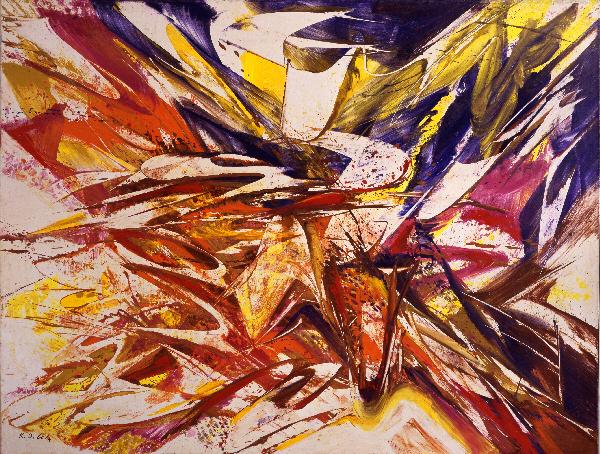 Title: Giverny VII/1, 1988 Mischtechnik auf Leinwand, 200 x 260 cm MKM Museum Küppersmühle für Moderne Kunst, Duisburg, Sammlung Ströher © VG Bild-Kunst, Bonn 2014 Foto: Olaf Bergmann, Witten