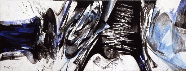 Title: Jonction II, 1991 Mischtechnik auf Leinwand, 220 x 520 cm MKM Museum Küppersmühle für Moderne Kunst, Duisburg, Sammlung Ströher © VG Bild-Kunst, Bonn 2014 Foto: Olaf Bergmann, Witten