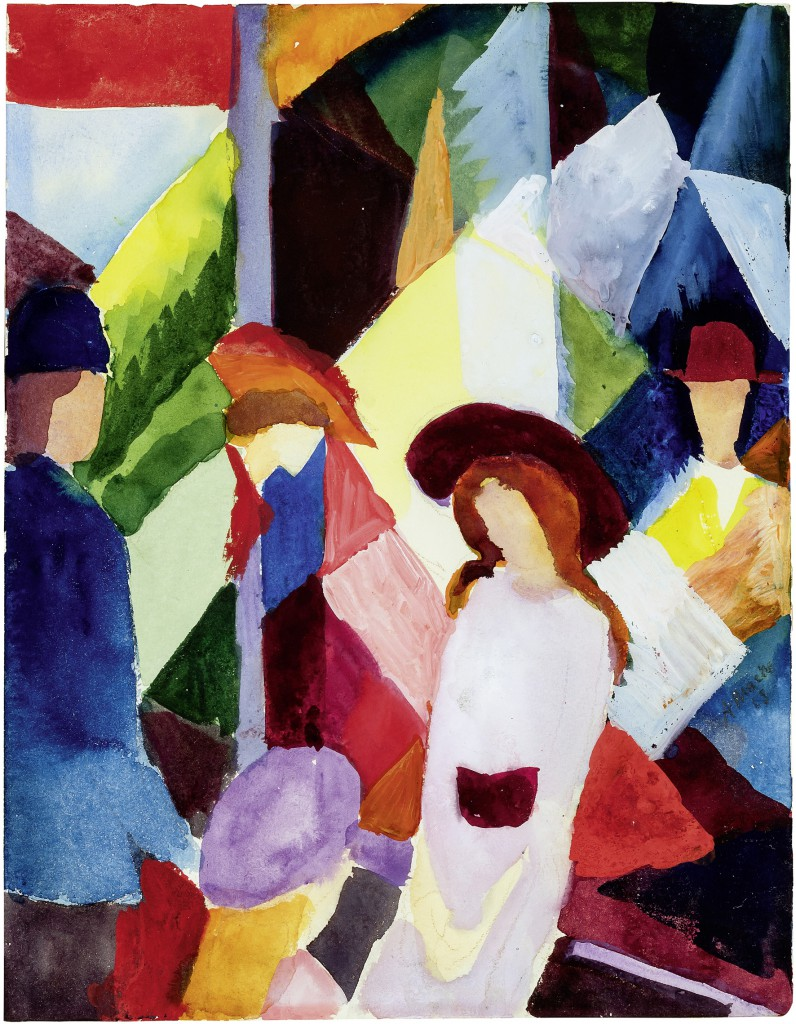 August Macke Schaufenster, 1913 Aquarellfarbe, Gouache auf Papier ahlers collection © Walter Mayer, München