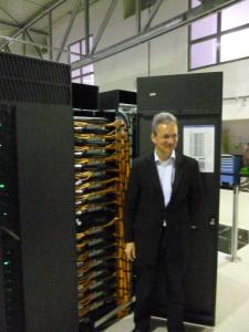 Norbert Attig, einer der IT Spezialisten des Jülicher Forschungszentrums (Foto: Marianne Hoffmann).