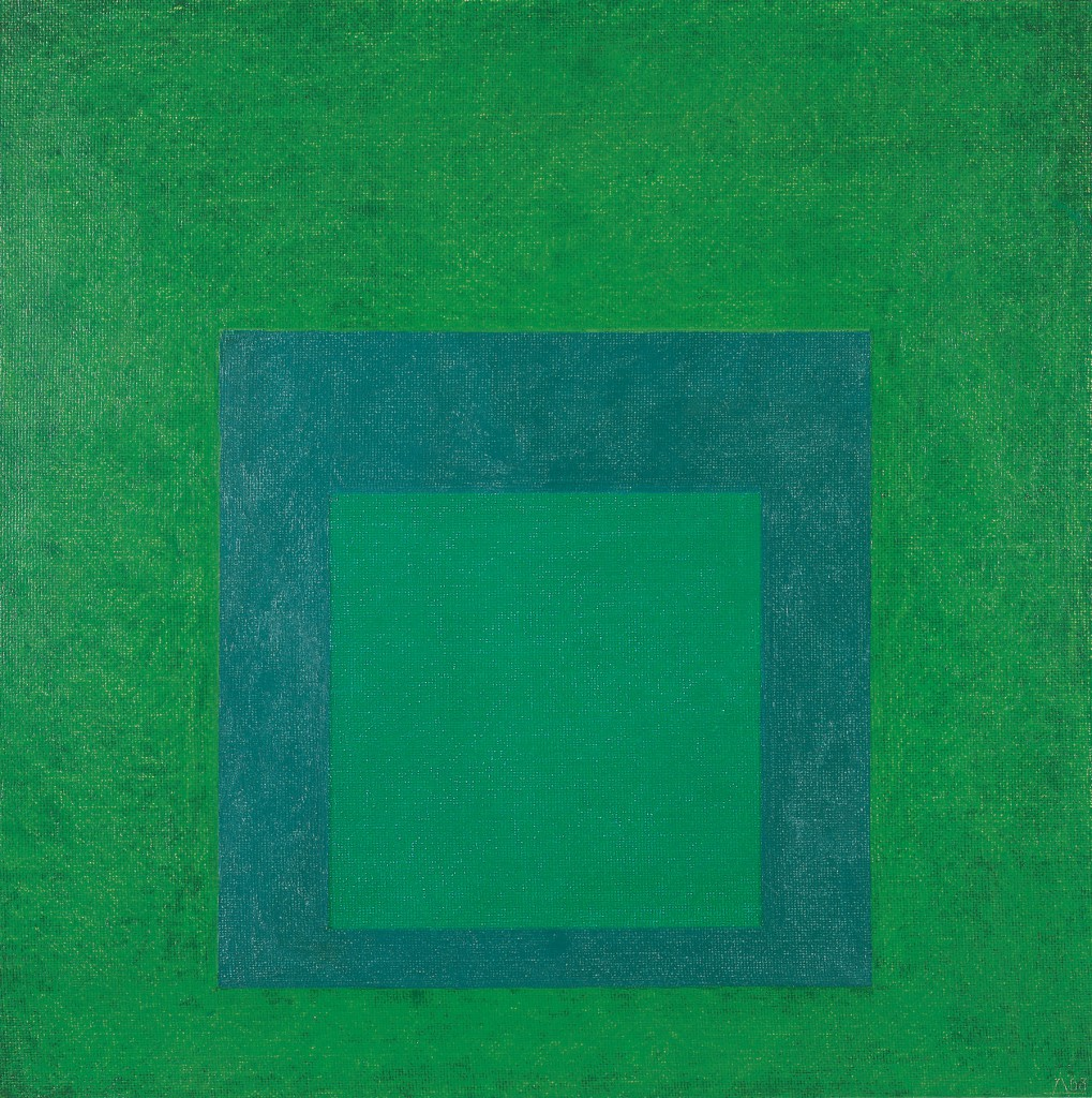 Josef Albers, Study for Homage to the Square: New Greens, 1963. Öl auf Hartfaser ©The Josef and Anni Albers Foundation / VG Bild-Kunst, Bonn 2014