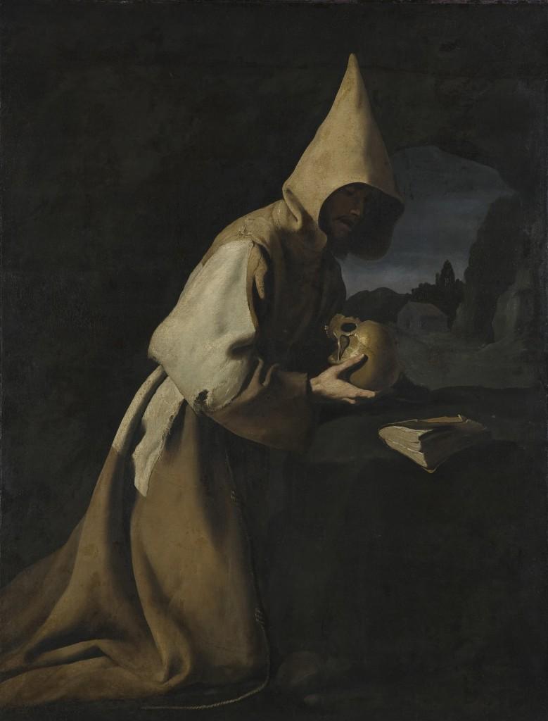 Francisco de Zurbarán, Der hl. Franziskus von Assisi, 1640, Öl auf Leinwand, 124,5 x 163,5 cm, Düsseldorf Museum Kunstpalast, © Stiftung Museum Kunstpalast , Foto: Horst Kolberg /ARTOTHEK