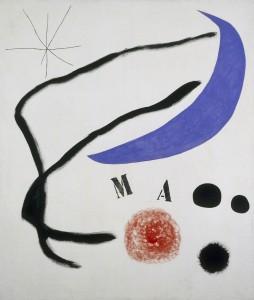 Joan Miró (1893-1983), Poème (III) (Gedicht. III), 1968, Acryl auf Leinwand, 205 x 174 cm, Fundació Joan Miró, Barcelona, © Successió Miró / VG Bild-Kunst 2015 Foto: Foto: Jaume Blassi © Kunstsammlung NRW
