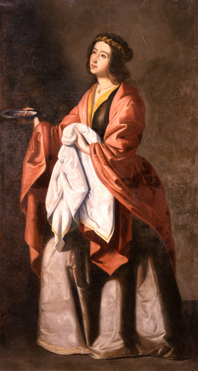 Francisco de Zurbarán Santa Lucía, um 1645-1650 Öl auf Leinwand, 183 × 111,5 cm