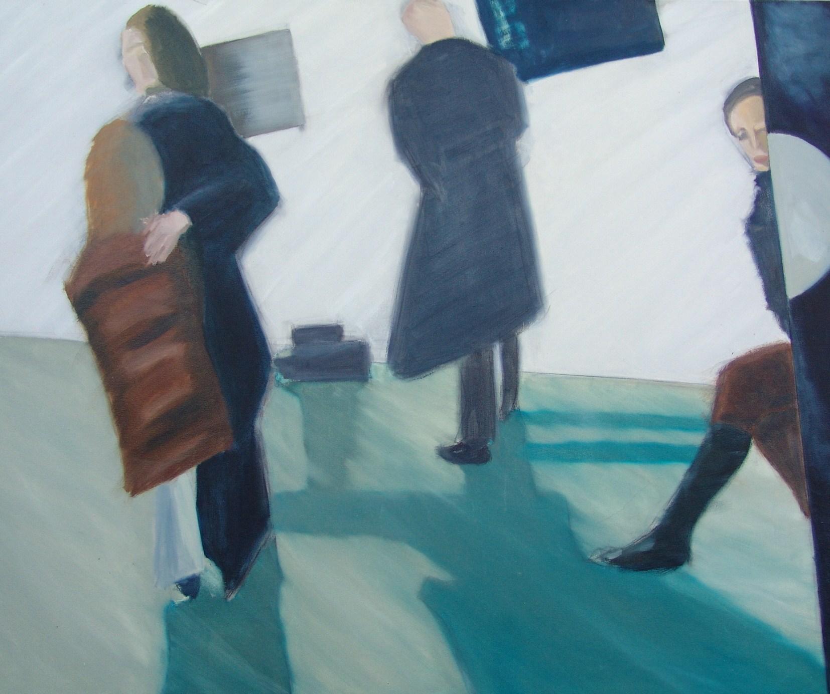 """Der Übergang ist fließend"" - Künstler: Sven Blatt | 2007 | 90 x 140 | Öl auf Leinwand"