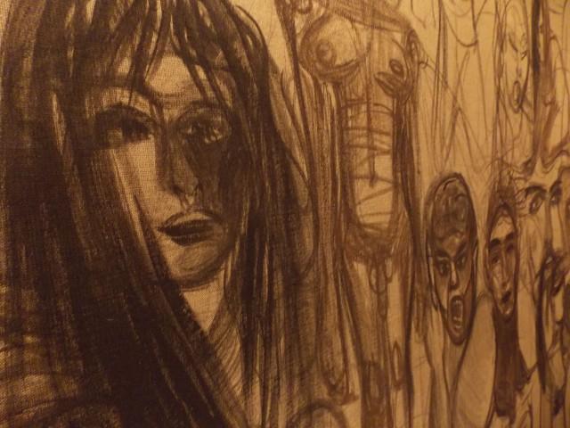 "Yvonne Schweidtmann, ""Amour Fou"" (Detail), 2015/16"