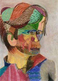 "Künstler: Sebastian Mayrle - ""john"" | 2018 | 59,4 x 42 cm | Pastell auf Papier"
