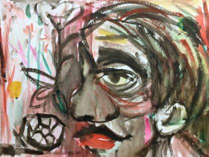 Künstler: Sebastian Mayrle - Ohne Titel   2017   56 x 42 cm   Aquarell