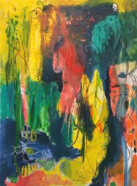 "Künstler: Sebastian Mayrle - ""ali bali"" | 2018 | 140 x 105 cm | Öl und Ölpastell a. LW"