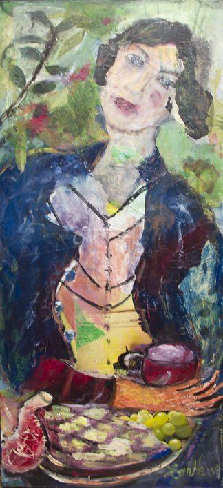 Künstlerin: Hanne Neß | 2019 | 65 x 30 x 1,6 cm | Acryl/Collage a. Holz | ungerahmt