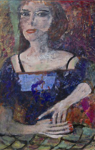 Künstlerin: Hanne Neß | 2018 | 52 x 33 x 1,6 cm | Acryl/Collage a. Holz | ungerahmt