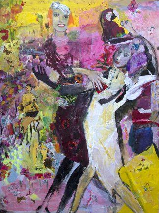 Künstlerin: Hanne Neß | 2019 | 120 x 90 x 1,6 cm | Acryl/Collage a. Holz | ungerahmt