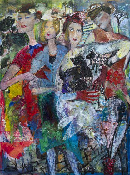 Künstlerin: Hanne Neß   2018   120 x 90 x 1,6 cm   Acryl/Collage a. Holz   ungerahmt