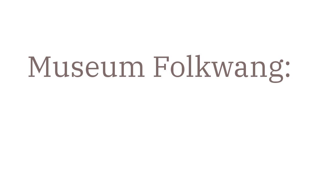 Programm Museum Folkwang Essen Juli 2019