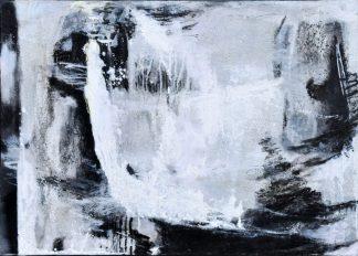 Künstlerin: Anne Samson 2019 | 70 x 50 cm |Tusche, Acrylfarbe, Sand,Marmormehl a. LW | auf Keilrahmen gespannt (ohne Zierrahmen)