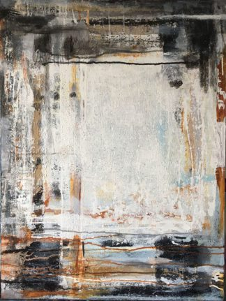 Künstlerin: Anne Samson 2019 | 80 x 60 cm | Tusche, Pigmente, Schellack, Sand, Marmormehl a. LW | auf Keilrahmen gespannt (ohne Zierrahmen)