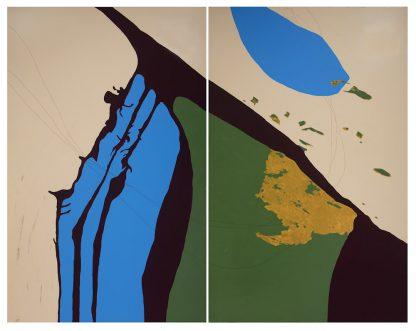 Künstlerin: Sandra Keutgens | 2018 | 200 x 280 x 2 cm | Öl a. LW | auf Keilrahmen gespannt (ohne Zierrahmen)