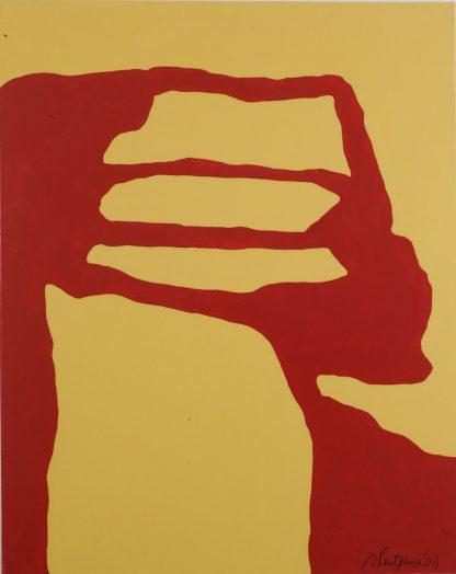 Künstlerin: Sandra Keutgens | 2003 | 100 x 80 x 2 cm | Öl a. LW | auf Keilrahmen gespannt (ohne Zierrahmen)