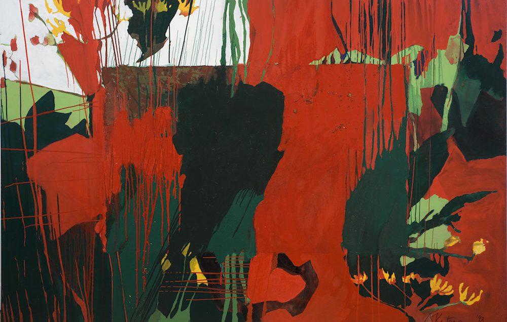 Kunst von Sandra Keutgens   1998   160 x 240 x 2 cm   Öl a. LW   auf Keilrahmen gespannt (ohne Zierrahmen)