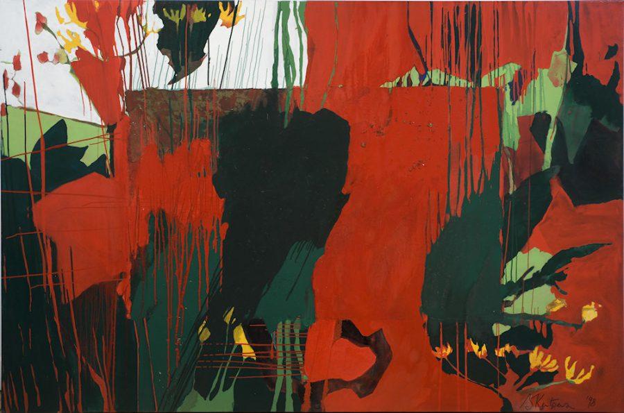 Künstlerin: Sandra Keutgens | 1998 | 160 x 240 x 2 cm | Öl a. LW | auf Keilrahmen gespannt (ohne Zierrahmen)