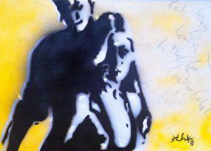 Künstler: Armin Schanz | 2013 | 50 x 70 cm | Graffito auf Leinwand, rückseitig geklammert