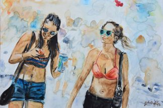 Künstler: Armin Schanz | 2017 | 50 x 70 cm | Aquarell auf Leinwand, rückseitig geklammert