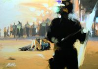 Künstler: Armin Schanz | 2015 | 70 x 100 cm | eGouache auf Leinwand (Acryl-Druck)
