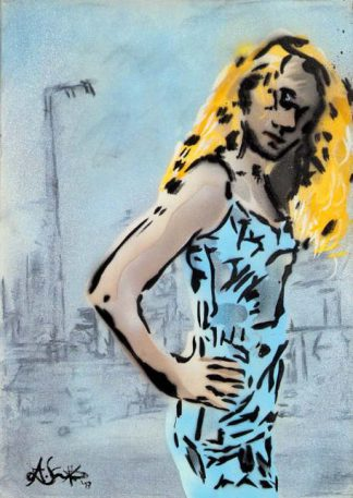 Künstler: Armin Schanz | 2013 | 70 x 50 cm | Graffito auf Leinwand, rückseitig geklammert