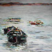 Künstlerin: Regina Berge | 2015 | 80 x 80 cm | Acryl auf Leinwand | auf Keilrahmen gespannt, ohne Zierrahmen