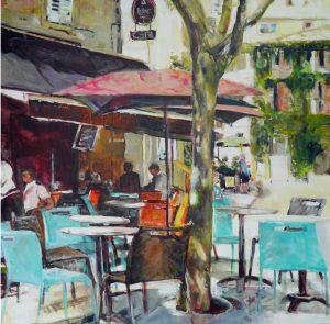 Künstlerin: Regina Berge | 2016 | 100 x 100 x 4 cm | Acryl auf Leinwand | auf Keilrahmen gespannt, ohne Zierrahmen