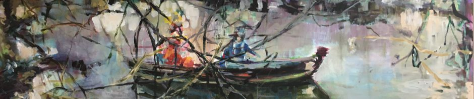 Künstlerin: Regina Berge | 2019 | 70 x 100 cm | Acryl auf Leinwand | auf Keilrahmen gespannt, ohne Zierrahmen