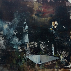 "Christian Krieter: ""Totem"" | 2019 | 50 x 50 cm | Acryl & Lack auf Leinwand | auf Keilrahmen gespannt, ohne Zierrahmen"