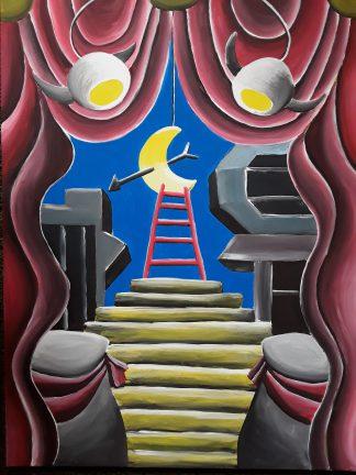 "Luzian Flück: ""Treppe"" | 2018 | 80 x 60 cm | Acryl auf Leinwand | auf Keilrahmen gespannt, ohne Zierrahmen"